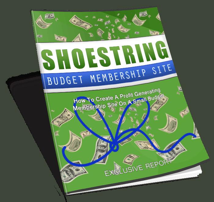 Shoestring budget membership sites mega pack master resell rights