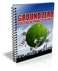 Ground Zero List Building PLR Newsletter eCourse
