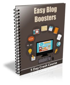 5-Day Easy Blog Boosters PLR Newsletter eCourse
