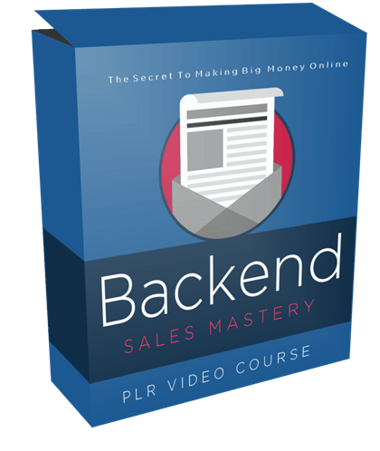 Backend Sales Mastery PLR Video Course