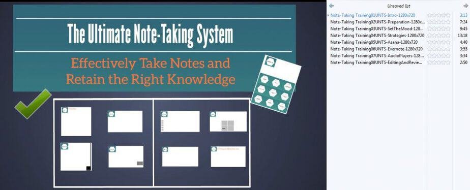 Ultimate Note Taking System PLR Videos - Video Lengths -BuyQualityPLR