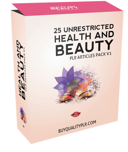 25 Unrestricted Health and Beauty PLR Articles Pack V1