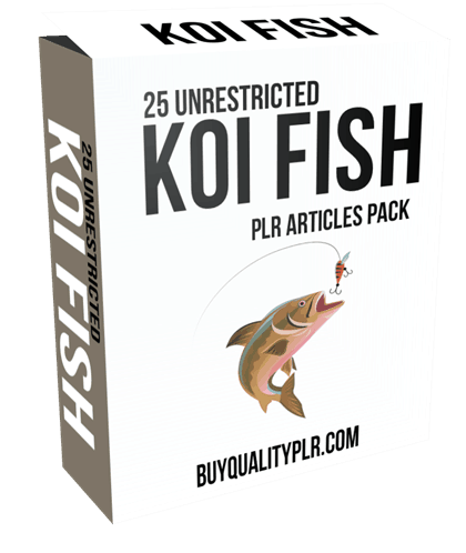25-unrestricted-koi-fish-plr-articles-pack