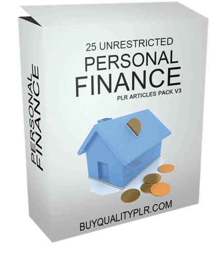 25 Unrestricted Personal Finance PLR Articles Pack V3
