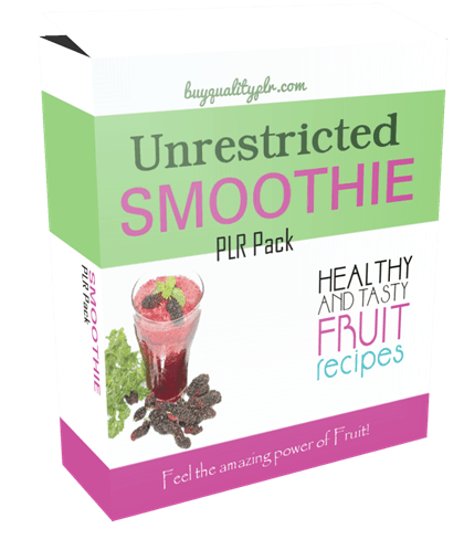 Unrestricted Smoothies PLR Pack