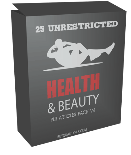 25 Unrestricted Health and Beauty PLR Articles Pack V4
