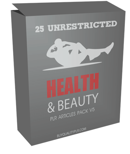 25 UNRESTRICTED HEALTH AND BEAUTY PLR ARTICLES PACK V5