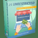 25 Unrestricted Internet Marketing PLR Articles Pack V5