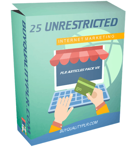 25 Unrestricted Internet Marketing PLR Articles Pack V5