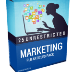 25 Unrestricted Marketing PLR Articles Pack