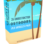 25 Unrestricted Outdoors PLR Articles Pack