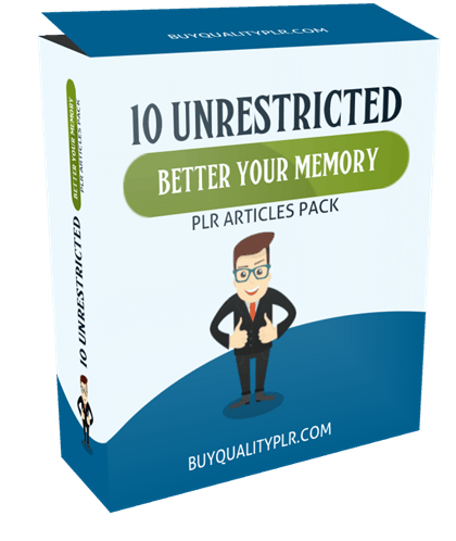 10 unrestricted better your memory plr articles pack