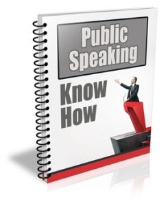 Public Speaking PLR Newsletter Autoresponder Series