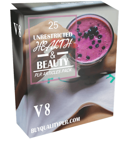 25 Unrestricted Health and Beauty PLR Articles Pack V8