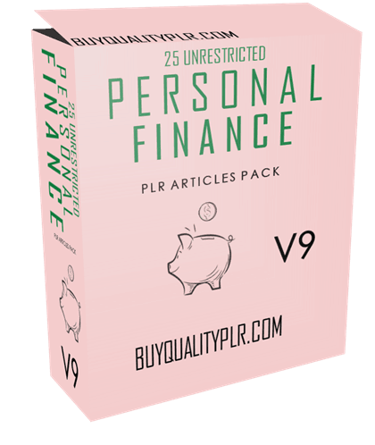 25 Unrestricted Personal Finance PLR Articles Pack V9