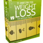 25 Unrestricted Weight Loss PLR Articles Pack V9
