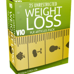 25 Unrestricted Weight Loss PLR Articles Pack V10