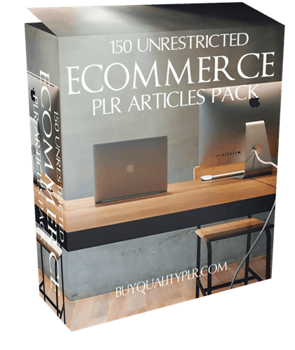 150 Unrestricted Ecommerce PLR Articles Pack