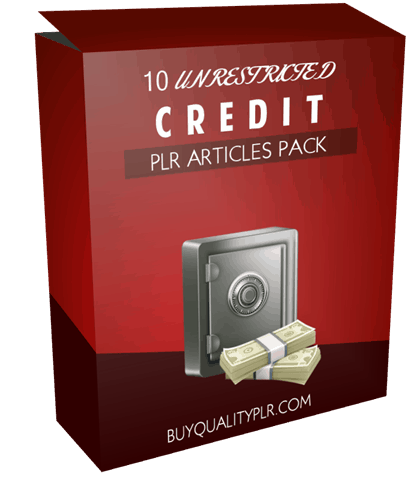 10 Unrestricted Credit PLR Articles Pack
