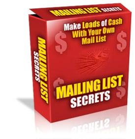 Mailing List Secrets Unrestricted PLR eBook