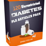 120 Unrestricted Diabetes PLR Articles Pack