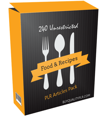 240 unrestricted food and recipes plr articles pack forumfinder Choice Image