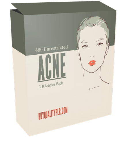 480 Unrestricted Acne PLR Articles Pack