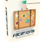 850 Unrestricted Vacations PLR Articles Pack V1