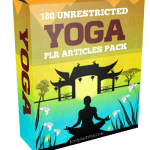 180 Unrestricted Yoga PLR Articles Pack