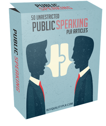50 Unrestricted Public Speaking PLR Articles Pack