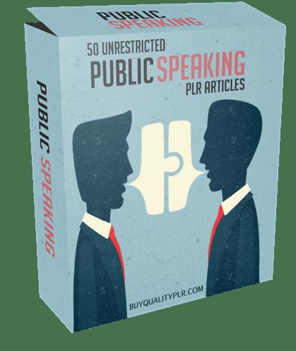 50 Unrestricted Public Speaking PLR Articles