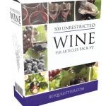 500 Unrestricted Wine PLR Articles Pack V2