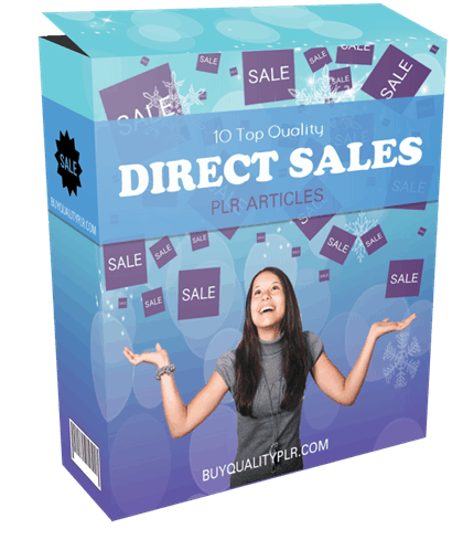 10 Top Quality Direct Sales PLR Articles