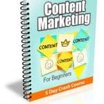 Content Marketing 5 Lessons PLR Newsletter eCourse