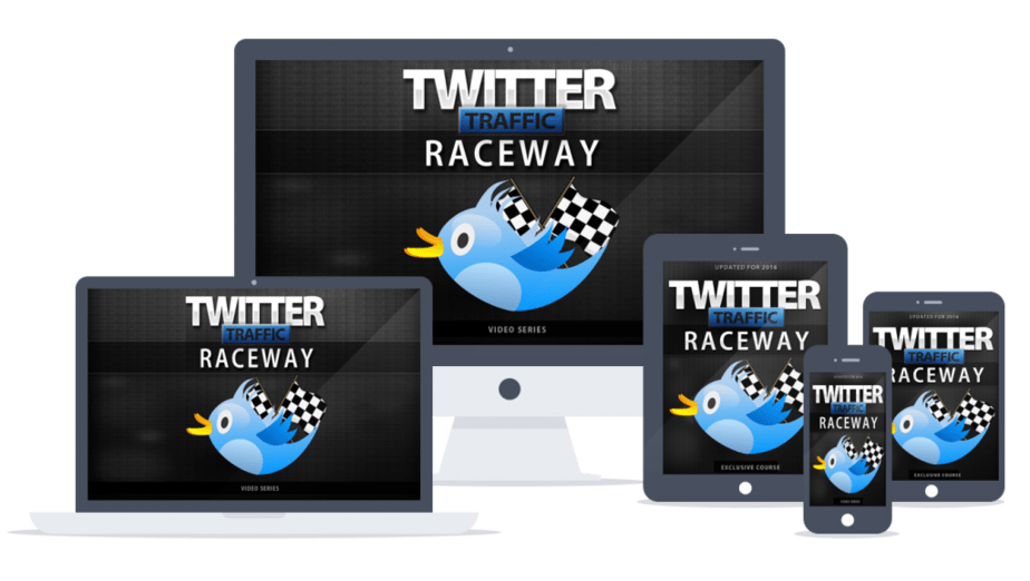 Twitter Traffic Raceway Sales Funnel with Master Resell Rights