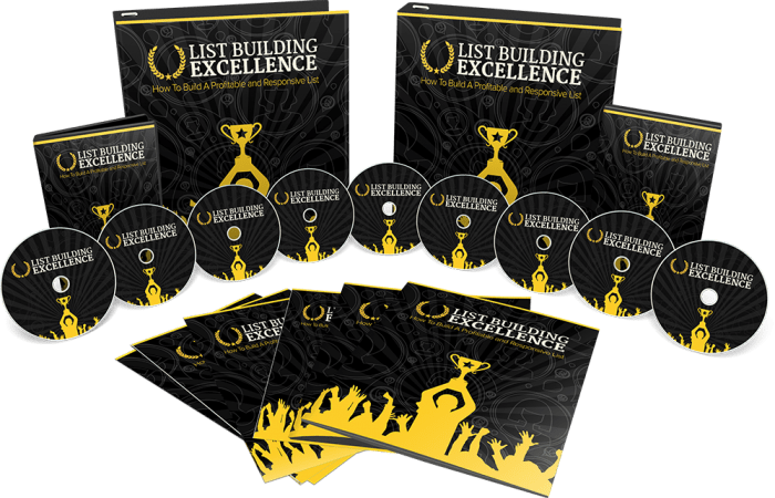 List Building Excellence Sales Funnel with Master Resell Rights