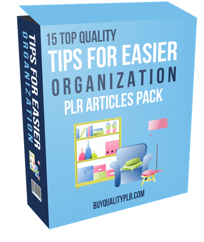 15 Top Quality Tips For Easier Organization PLR Articles Pack