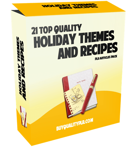 21 Top Quality Holiday Themes and Recipes PLR Articles Pack