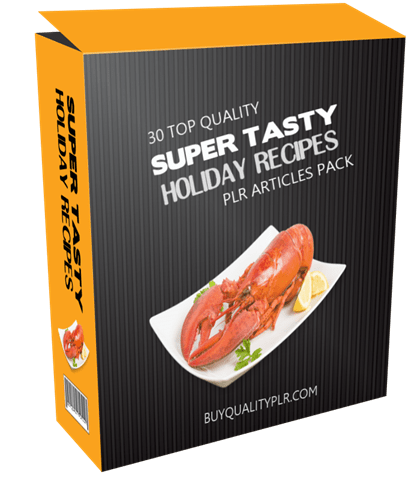 30 Top Quality Super Tasty Holiday Recipes PLR Articles Pack
