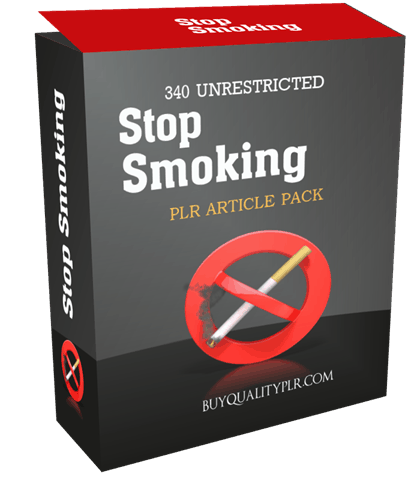 340 Unrestricted Stop Smoking PLR Article Pack