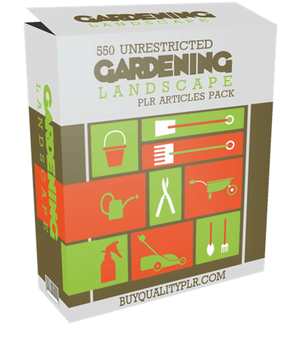 550 Unrestricted Gardening Landscape PLR Articles Pack