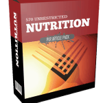 570 Unrestricted Nutrition PLR Article Pack