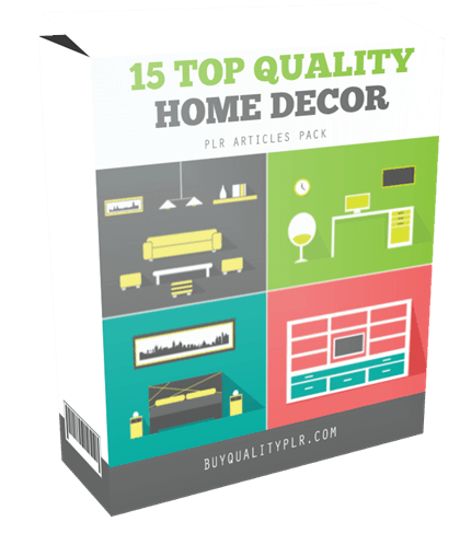 15 Top Quality Home Decor PLR Articles Pack