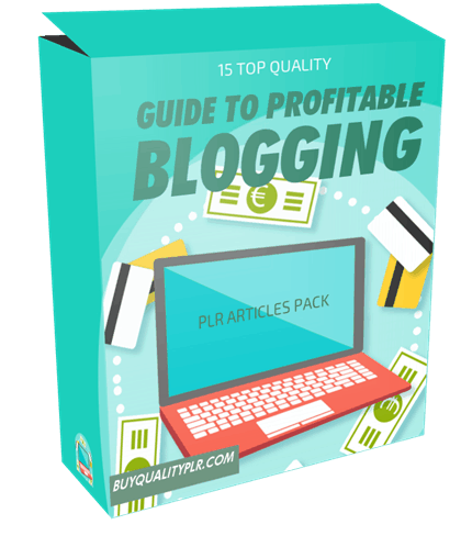 15 Top Quality Guide to Profitable Blogging PLR Articles Pack