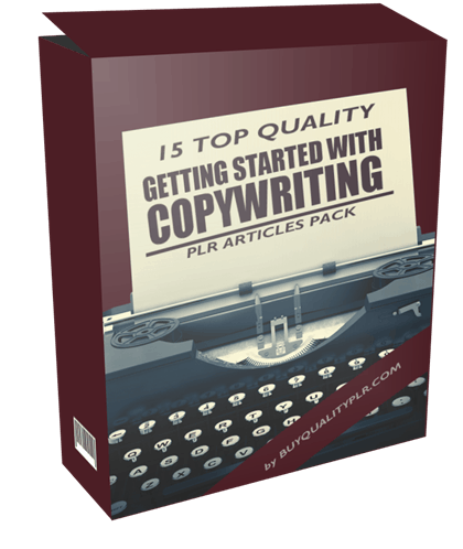 15 Top Quality Getting Started with Copywriting PLR Articles Pack