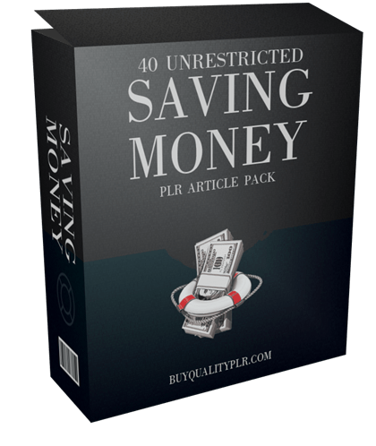 40 Unrestricted Money Saving PLR Article Pack
