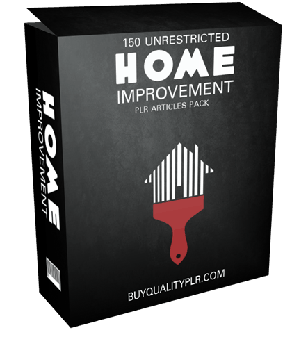 150 Unrestricted Home Improvement PLR Articles Pack