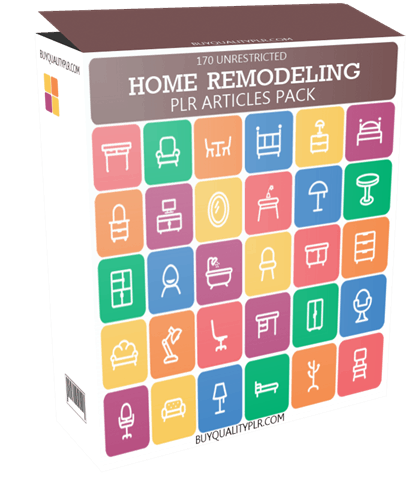170 Unrestricted Home Remodeling PLR Articles Pack