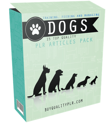 15 Top Quality Training, Feeding and Managing Dogs PLR Articles Pack