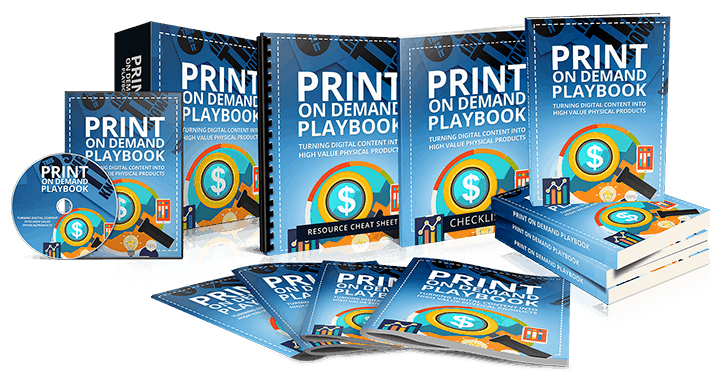 The Print On Demand Playbook Sales Funnel with Resell Rights